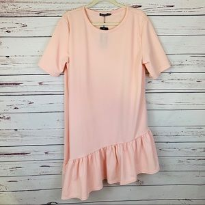 NWT Boohoo Plus Size Blush Shift Dress